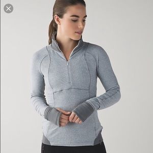 Lululemon Runderful 1/2 zip gray slate pullover